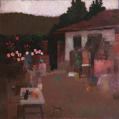Painting - Village Backyard by Attila Meszlenyi