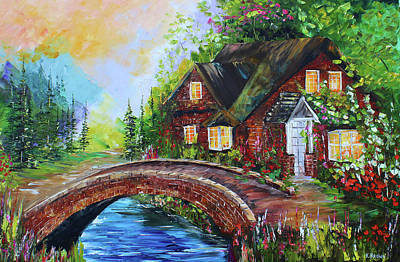 Painting - Village Bridge by Kevin Brown