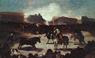 Bullfight Digital Art - Village Bullfight  by Francisco de Goya