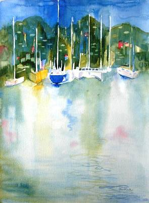 Painting - Village Cay Reflections by Diane Kirk