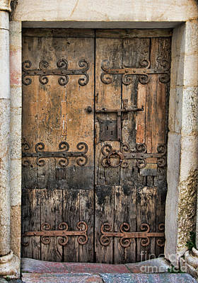 Village Chateau French Old Ancient Door Color  Art Print