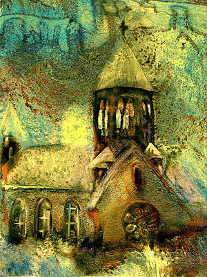Village Church Art Print by Anne Weirich