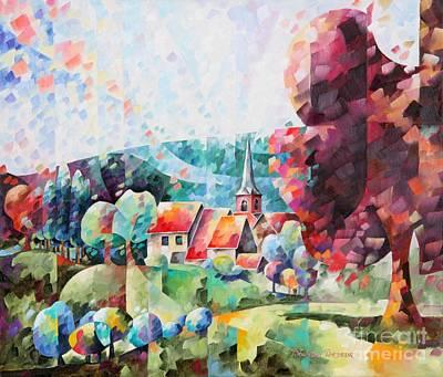Village De Deigne Art Print