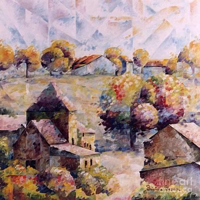 Village D'ohey Art Print