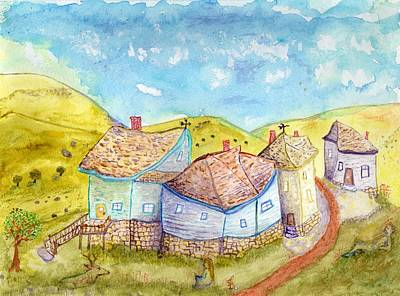 Painting - Village Edge by Jim Taylor