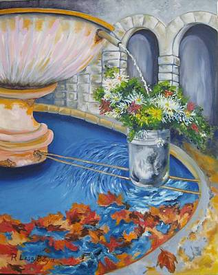 Painting - Village Fountain by Lisa Boyd