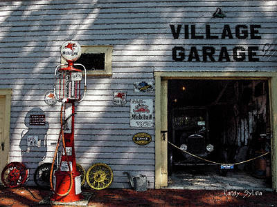 Photograph - Village Garage by Randy Sylvia