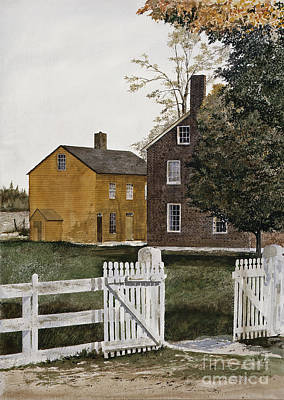 Kentucky Painting - Village Gate by Monte Toon