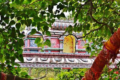 Photograph - Village Gate Through Shankara's Mulberry Tree -  Joshi Math India by Kim Bemis