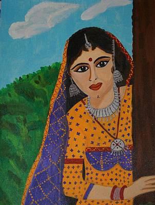 Shweta Singh Painting - Vaijanti Mala by Shweta Singh