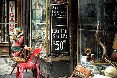 Photograph - Village Guitar Repair by John Rizzuto
