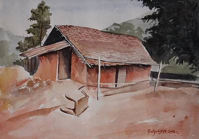 Painting - Village Hut by Mrutyunjaya Dash