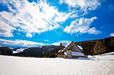 Photograph - Village In Alps Under Deep Snow by Brch Photography