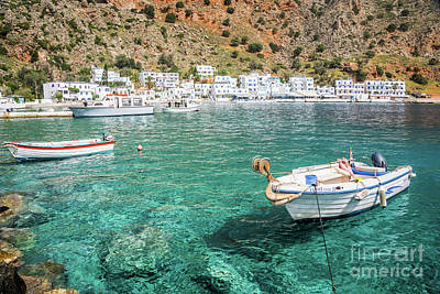 Crete Photograph - Village In Crete, Greece by Delphimages Photo Creations