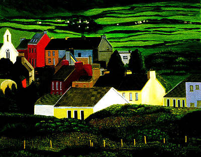 Painting - Village In Ireland by JoeRay Kelley