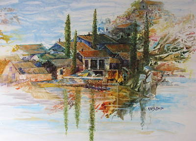 Village In Provence Original by Ken McBride