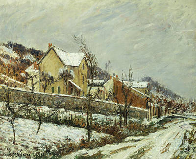 Village In The Snow Art Print