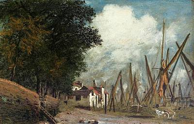 Village Painting - Village Landscape by MotionAge Designs