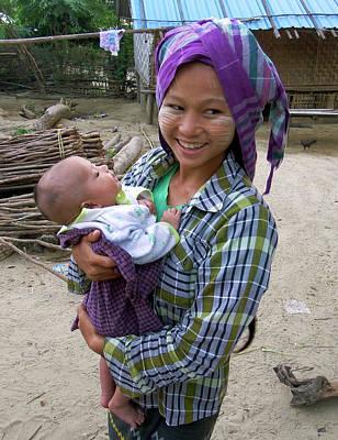 Photograph - Village Mother, Myanmar by Kurt Van Wagner