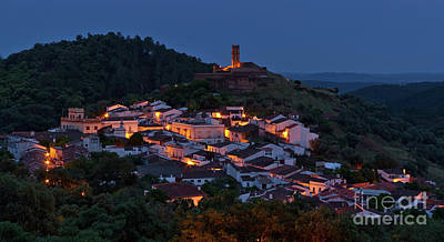 Photograph - Village Of Almonaster La Real At Night by Angelo DeVal