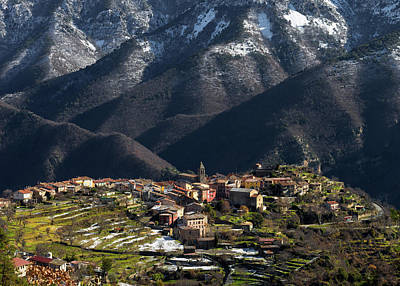 Photograph - Village Of Utelle by Carl Amoth