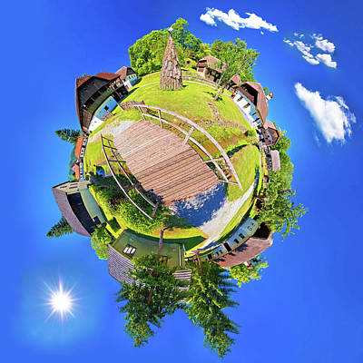 Photograph - Village Of Kumrovec Countryside Planet Perspective Panorama by Brch Photography
