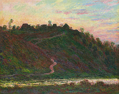 Painting - Village Of La Roche-blond, Effect Of The Evening by Claude Monet