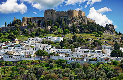 Photograph - Village Of Lindos by Anthony Dezenzio