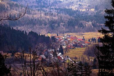 Village Of Lokve In Gorski Kotar  Art Print