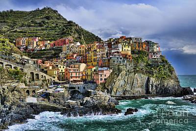 Village Of Manarola - Cinque Terre - Italy Art Print by JH Photo Service
