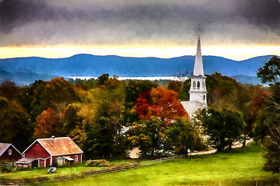 Photograph - Village Of Peacham Vermont by Jeff Folger