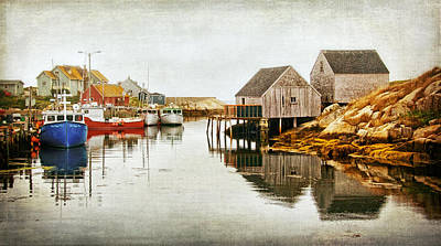 Photograph - Village Of Peggys Cove by Carolyn Derstine