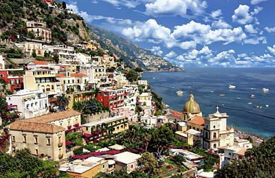 Audrey Hepburn - Village of Positano by Anthony Dezenzio