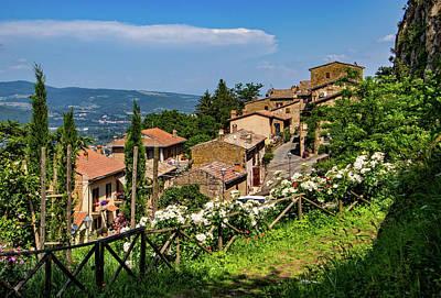 Photograph - Village Of Rocca Ripesena by Carolyn Derstine