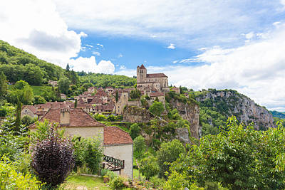 Photograph - Village Of Saint Circ Lapopie In France In Summer by Semmick Photo
