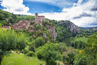 Photograph - Village Of Saint Circ Lapopie In France On A Summer Day by Semmick Photo
