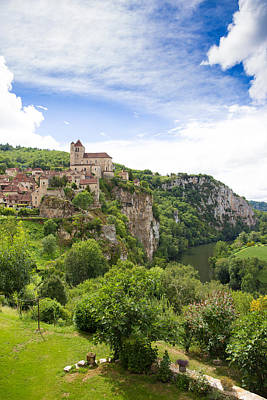 Photograph - Village Of Saint Circ Lapopie In France On A Summers Day by Semmick Photo