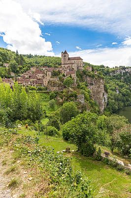 Photograph - Village Of Saint Circ Lapopie In France On A Sunny Day by Semmick Photo