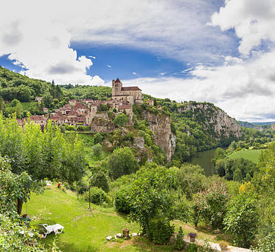 Photograph - Village Of Saint Circ Lapopie In France by Semmick Photo