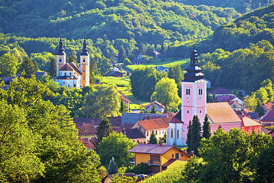 Photograph - Village Of Strigova Towers And Green Landscape by Brch Photography