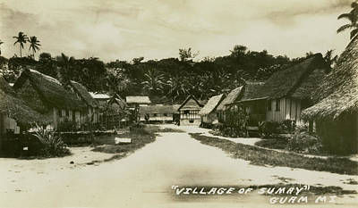 Village Of Sumay Guam Art Print by eGuam Photo