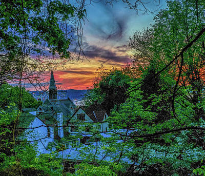 Photograph - Village Of Tarrytown Sunset  by Jeffrey Friedkin