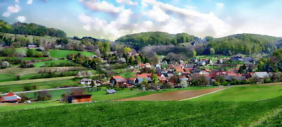 Photograph - Village Of Tiefenellern by Anthony Dezenzio