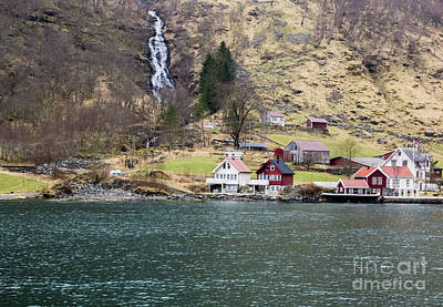 Photograph - Village On A Fjord by Suzanne Luft