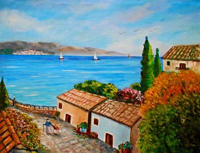 Painting - Village Perigiali / Greece by Constantinos Charalampopoulos