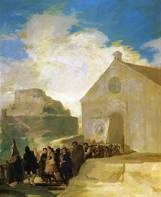 Painting - Village Procession 1787 by Goya Francisco