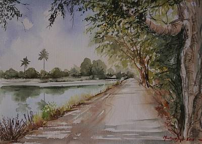 Painting - Village Road by Mrutyunjaya Dash
