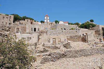 Photograph - Village Ruins On Tilos by David Fowler