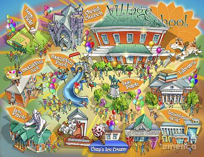 Thomas Jefferson Painting - Village School by Maria Rabinky