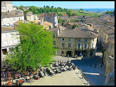 Photograph - Village Square Saint Emilion by Betty Buller Whitehead